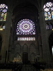 Rose du transept Nord