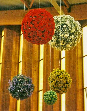 Boules de fleurs