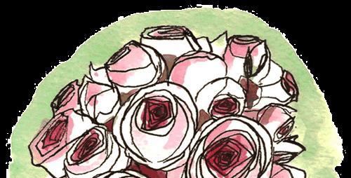 Demi-sphère de roses