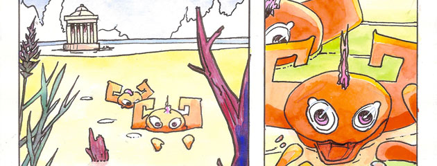 Nage dans le marais