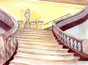 Réglages des ambiances de l'escalier