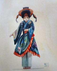 Aquarelle de kimono