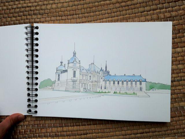 Crayonné du Château de Chantilly