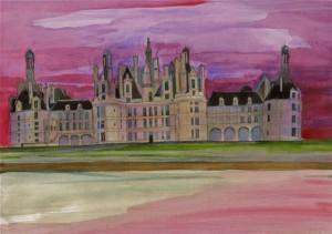 Aquarelle du Château de Chambord