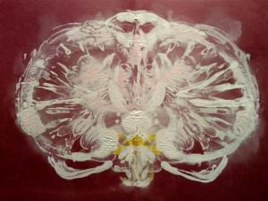 Rorschach sur le thème de l'orchidée
