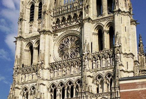 Rose : Cathédrale d'Amiens
