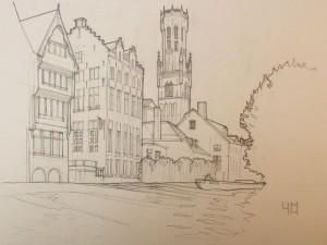 Bruges croquis