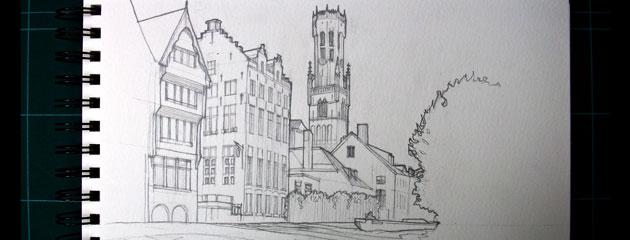 Dessin de Bruges