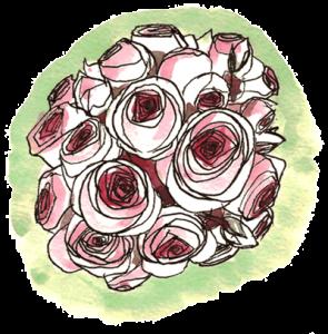 Boule de roses au feutre