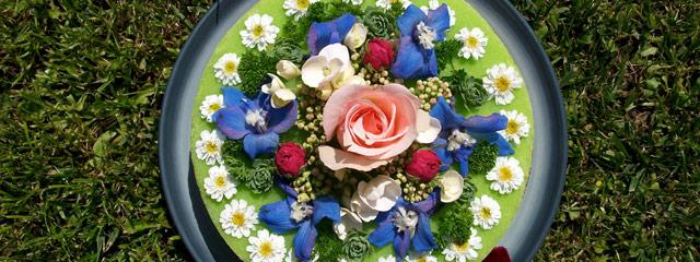 Gateau en fleurs