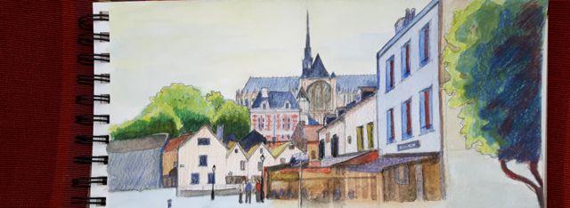 Aquarelle d'Amiens